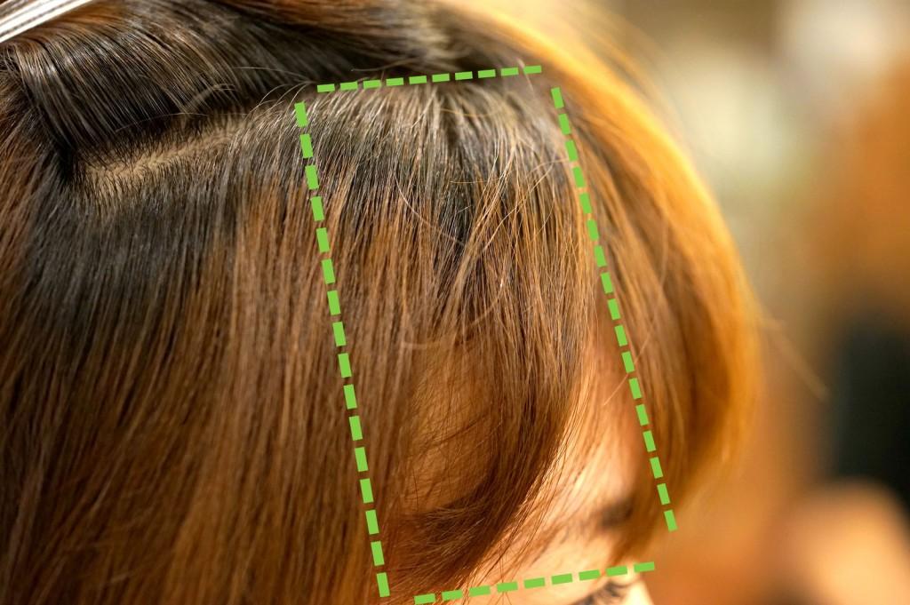 前髪のクセ 2