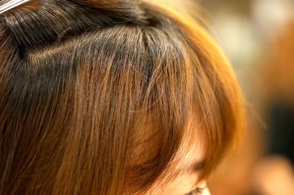 前髪のクセ