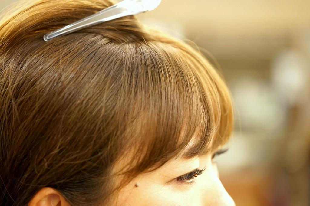 前髪のクセ 5