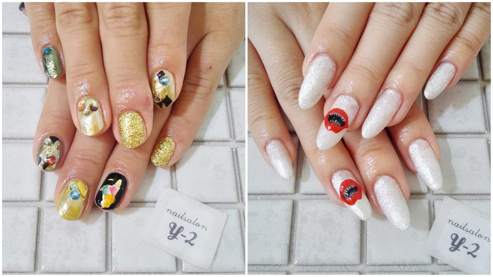 ミラーネイルと金箔のデザイン【Nail Salon y-2】