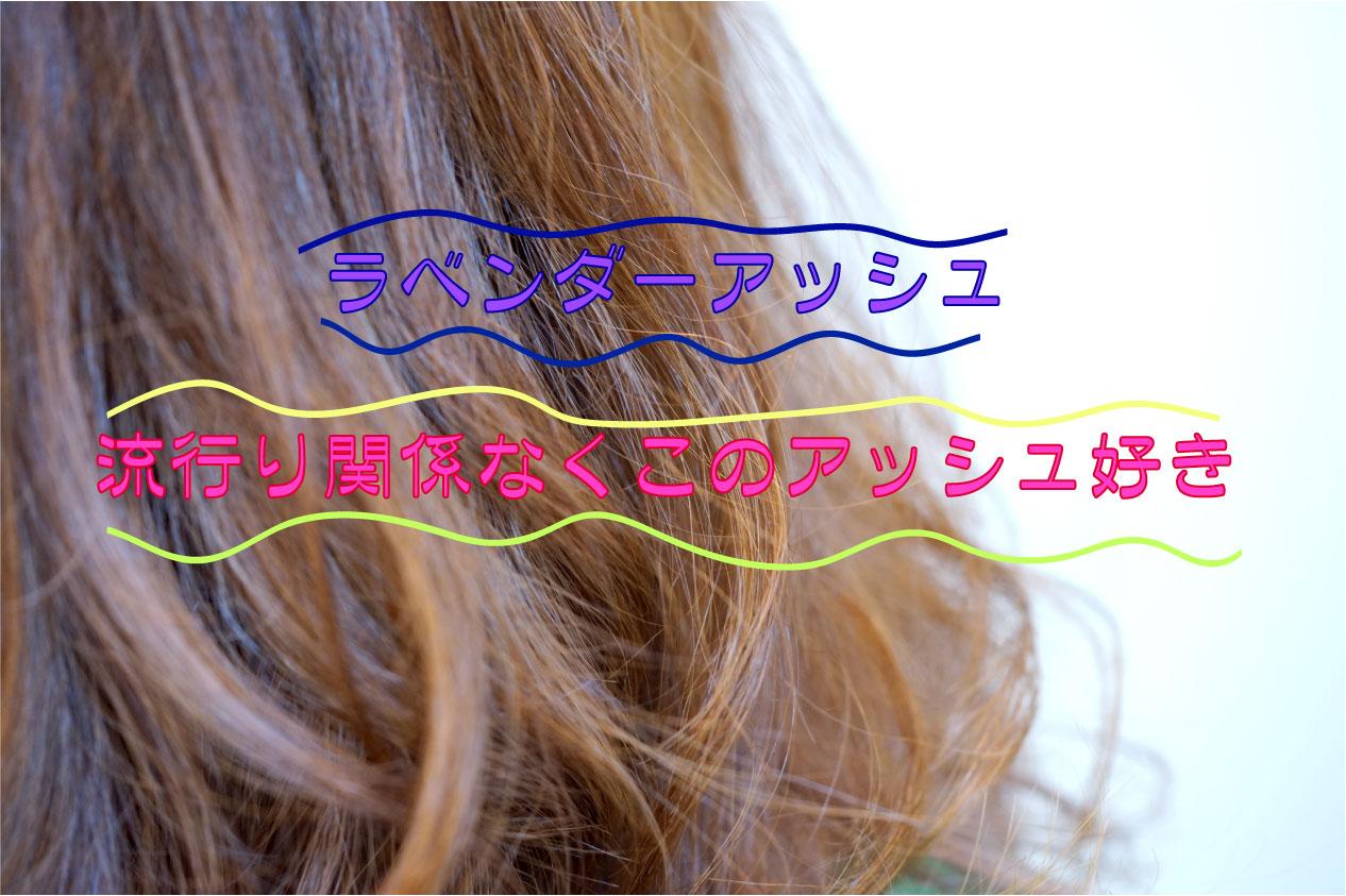 ラベンダーアッシュ♪ 淡い青紫+ブラウンベースカラー